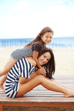 Happy family at beach Royalty Free Stock Photography