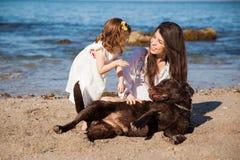 Happy family at the beach Royalty Free Stock Photo