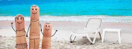 Happy family on the beach Royalty Free Stock Photography