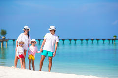 Happy family during beach vacation Royalty Free Stock Image