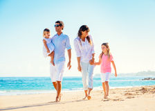 Happy Family on the Beach Royalty Free Stock Image
