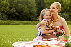 Happy family. A Beautiful Mother and Daughter Stock Images