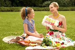 Happy family. Beautiful woman and young girl smiling. Mother day Royalty Free Stock Photo
