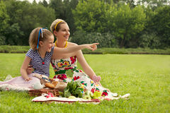 Happy family. A Beautifull Mother and Daughter Stock Images