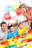 Happy family and birthday Stock Photo