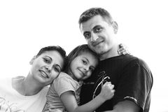Happy Family black and white Royalty Free Stock Photography