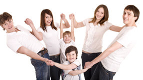 Happy family , boy and girl. Royalty Free Stock Photos
