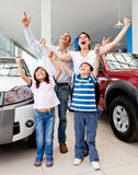 Happy family buying a car Stock Photo