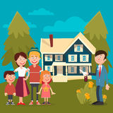 Happy Family Buying a New House Stock Photos