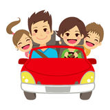 Happy Family Car Royalty Free Stock Photo