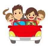 Happy Family Car Royalty Free Stock Photo