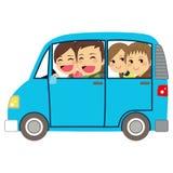 Happy Family Car Minivan Royalty Free Stock Photography