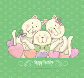 Happy family card Stock Images