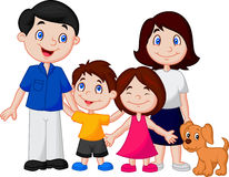 Happy family cartoon Stock Photo