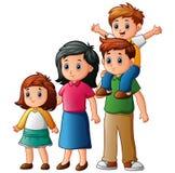 Happy family cartoon. Illustration of Happy family cartoon Royalty Free Stock Image