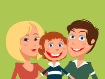 Happy family cartoon vector illustration Royalty Free Stock Photography