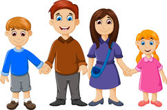 Happy family cartoon for you design Royalty Free Stock Image