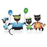 Happy family, cats royalty free stock image