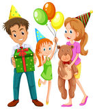 A happy family celebrating a birthday Royalty Free Stock Images