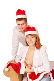 Happy family celebrating Christmas Royalty Free Stock Photo