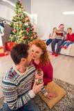 Happy family celebrating winter holiday Royalty Free Stock Photo