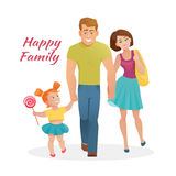 Happy family with cheerful smile Royalty Free Stock Images