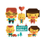 Happy family with cheerful smile Stock Photos