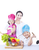 Happy family chef isolated Stock Image