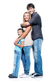 Happy family with child stock images