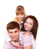Happy family with child girl. Stock Image