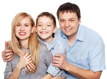 Parents with son studio shot Royalty Free Stock Photography
