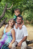 Happy family with child outdoors Royalty Free Stock Photography