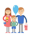 Happy family with child. Stock Photography