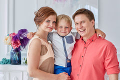 Happy family with child. Royalty Free Stock Photo