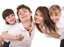 Happy family with children. Royalty Free Stock Photo