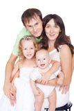 Happy family with children Royalty Free Stock Photos
