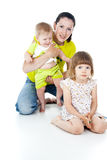 Happy family with children Stock Images