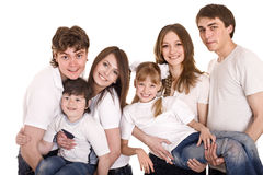 Happy family with children. Group people. Stock Photo