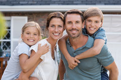 Happy family with children Stock Photos