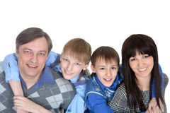 Happy family with children Stock Photography