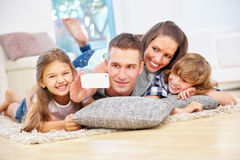 Happy family with children taking selfie Royalty Free Stock Images