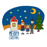 Happy family Chirstmas holidays Stock Image