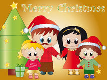 Happy family a christmas Royalty Free Stock Photos