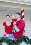 Happy family at Christmas Stock Image