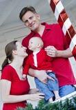 Happy family at Christmas Stock Photos