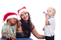 Happy family Christmas celebration Stock Images