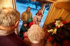 Happy family at Christmas -Merry Christmas Stock Photos