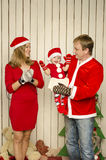 Happy family on Christmas Royalty Free Stock Images