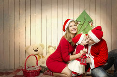 Happy family on Christmas Royalty Free Stock Photo