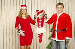 Happy family on Christmas Stock Photography